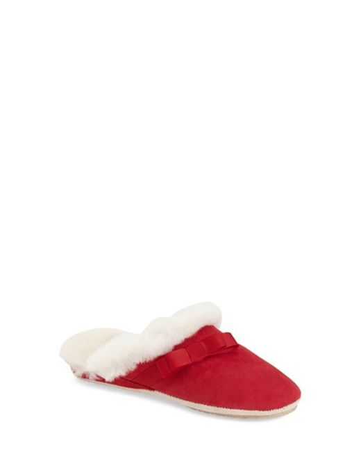 Patricia Green | Red Sabrina Shearling Slippers | Lyst