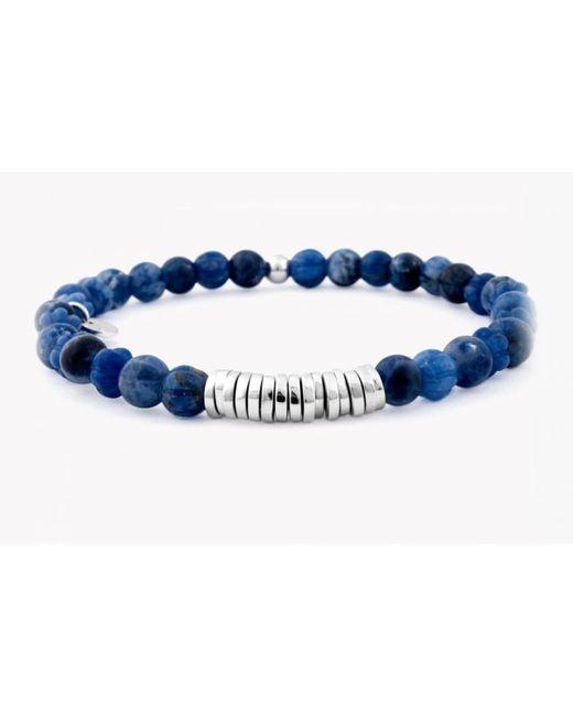 Tateossian | Blue Round Beaded Bracelet for Men | Lyst