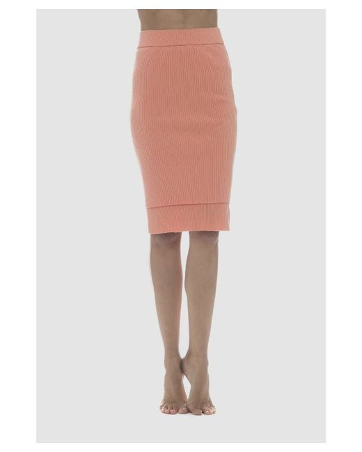 lime vine mila ribbed layer pencil skirt in