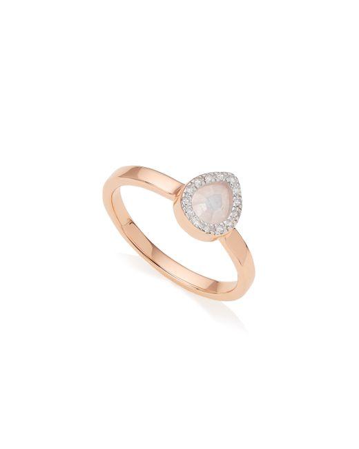 Monica Vinader | Pink Naida Mini Lotus Ring | Lyst