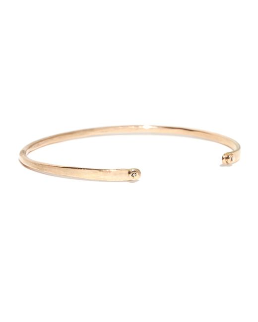 Melissa Joy Manning | Metallic Diamond Studded 14 Karat Gold Forged Cuff | Lyst