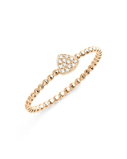 Bony Levy | Pink 'aurora' Diamond Pave Triangle Ring (nordstrom Exclusive) | Lyst