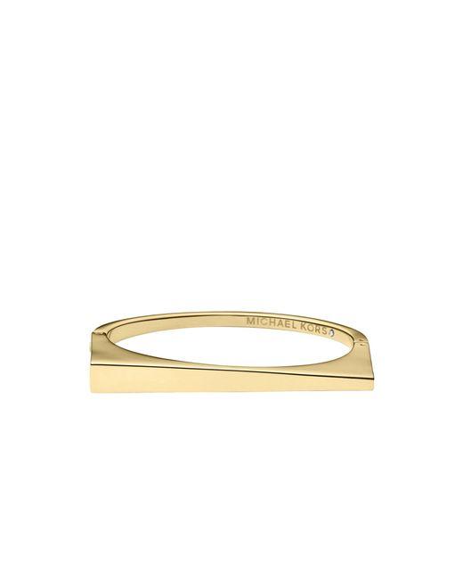 Michael Kors | Metallic Asymmetrical Gold-tone Bangle | Lyst
