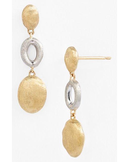 Marco Bicego | Metallic 'siviglia' Two-tone Drop Earrings | Lyst