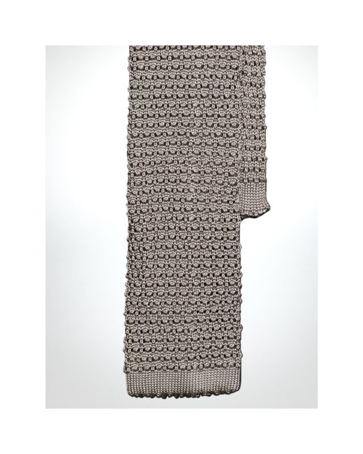 Polo Ralph Lauren | Silver Solid Knit Silk Tie for Men | Lyst