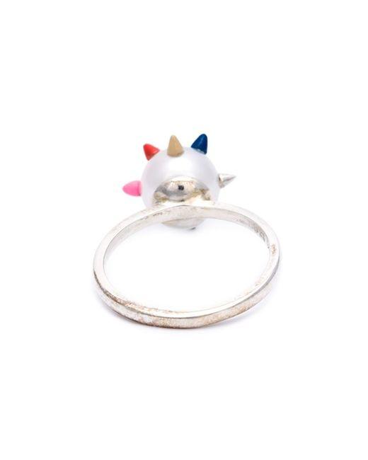 Nektar De Stagni   Metallic Spike Pearl Ring   Lyst