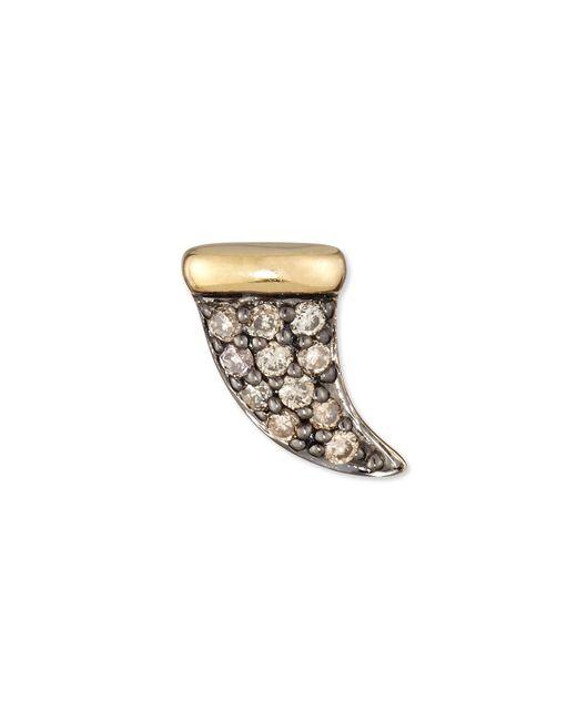 Sydney Evan | Metallic Champagne Diamond Mini Horn Single Stud Earring | Lyst