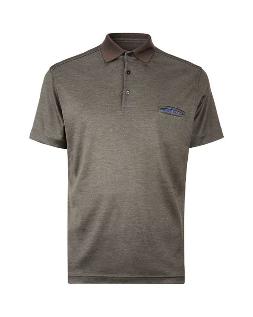 Zilli Silk Polo Shirt In Gray For Men Lyst
