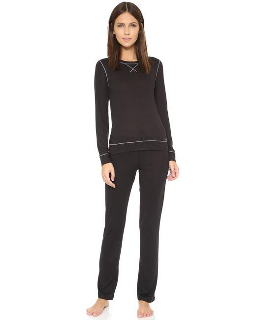 Calvin Klein | Black Liquid Lounge Pajama Pants | Lyst