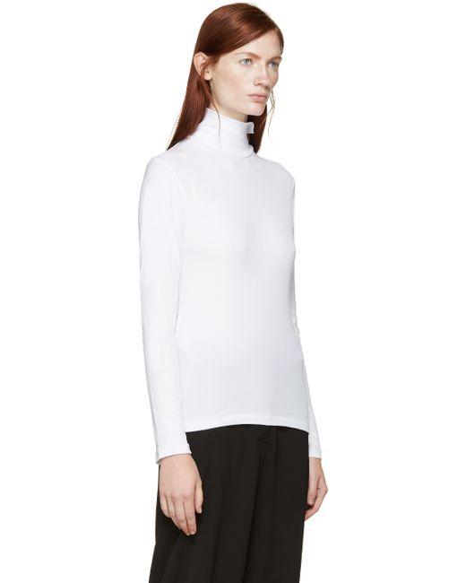 Yohji Yamamoto | White Turtleneck Shirt | Lyst