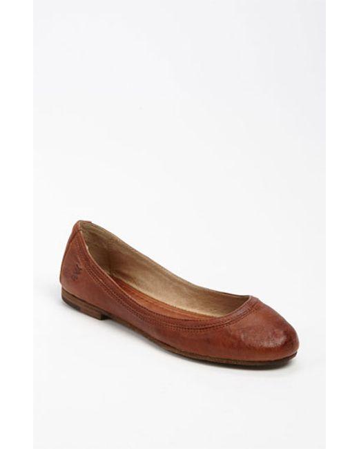 Frye   Brown 'carson' Ballet Flat   Lyst