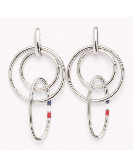 Tommy Hilfiger   Metallic Signature Earrings   Lyst