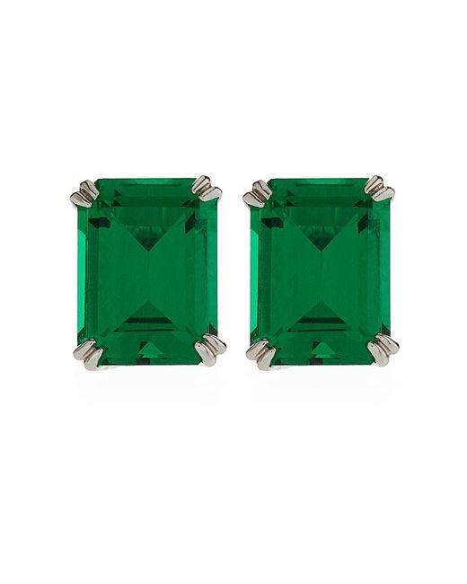 Carat* | Green Emerald Cut Stud Earrings | Lyst