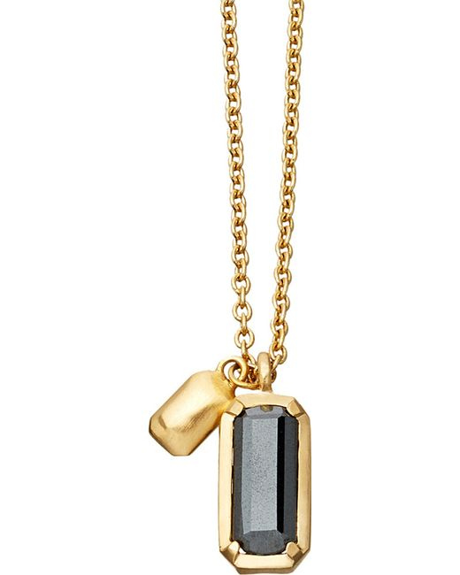 Astley Clarke | Metallic Prismic 18-carat Yellow Gold-plated And Hematite Pendant Necklace | Lyst