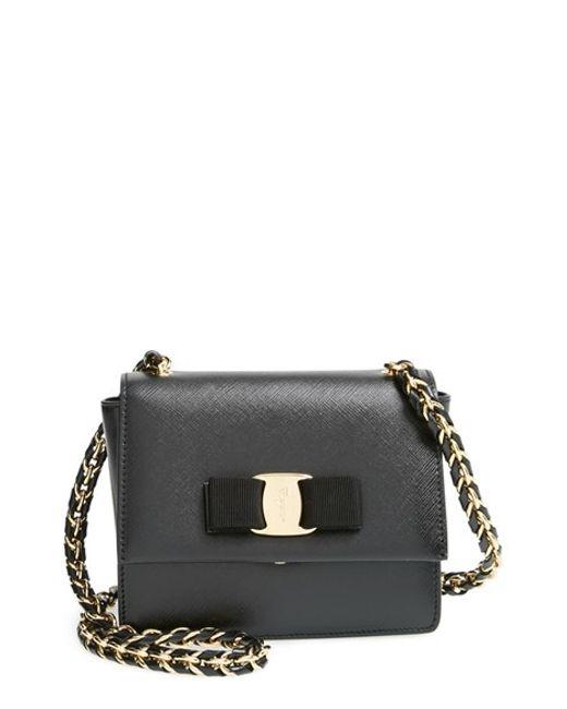 Ferragamo | Black 'ginny - Mini' Crossbody Bag | Lyst