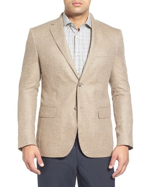 John W. Nordstrom | Natural John W. Nordstrom Classic Fit Cashmere Sport Coat for Men | Lyst