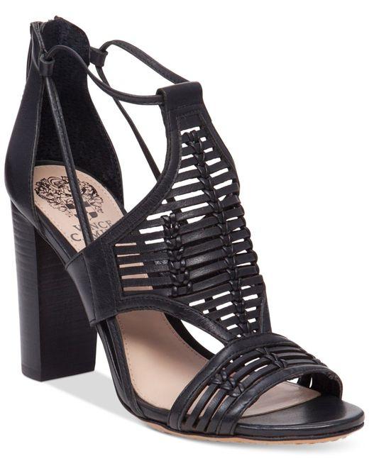 Vince Camuto Ceara Huarache Block Heel Dress Sandals In