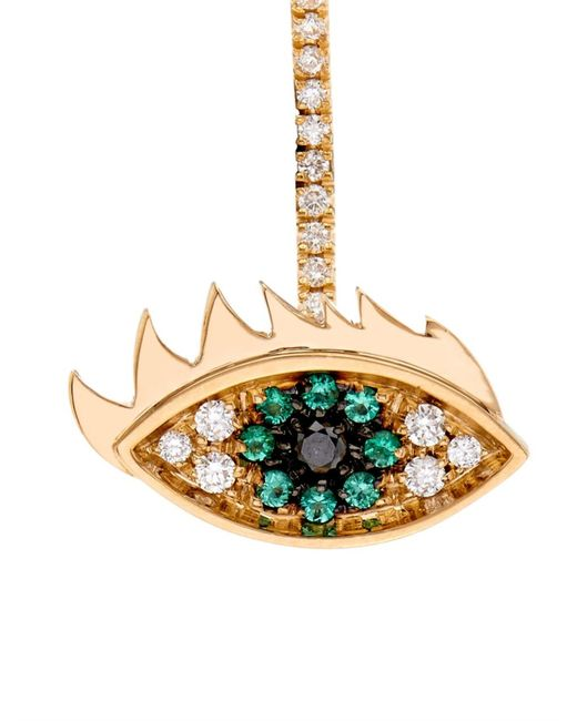 Delfina Delettrez   Yellow Diamond, Emerald, Pearl & Gold Earring   Lyst