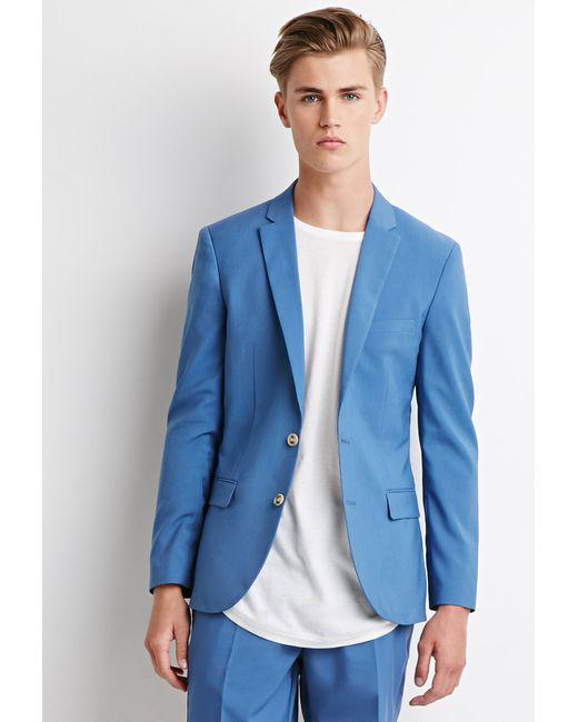Forever 21   Blue Two-button Blazer for Men   Lyst