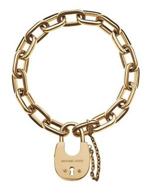 Michael Kors | Metallic Mkj4627710 Ladies Padlock Bracelet | Lyst