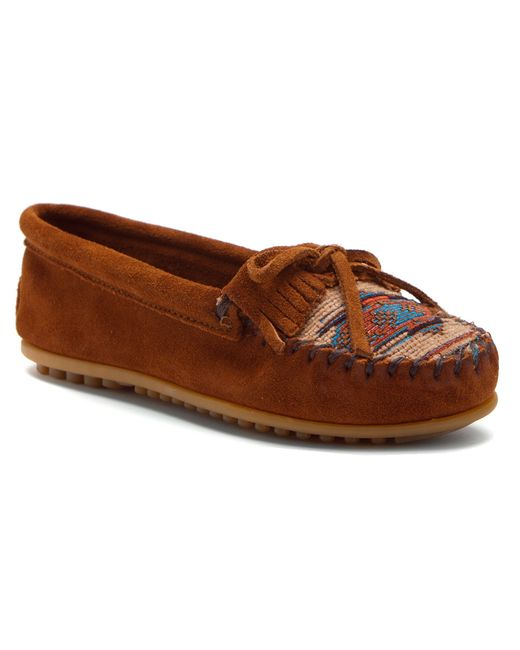 Minnetonka El Paso Ii Brown Suede Moc Shoes