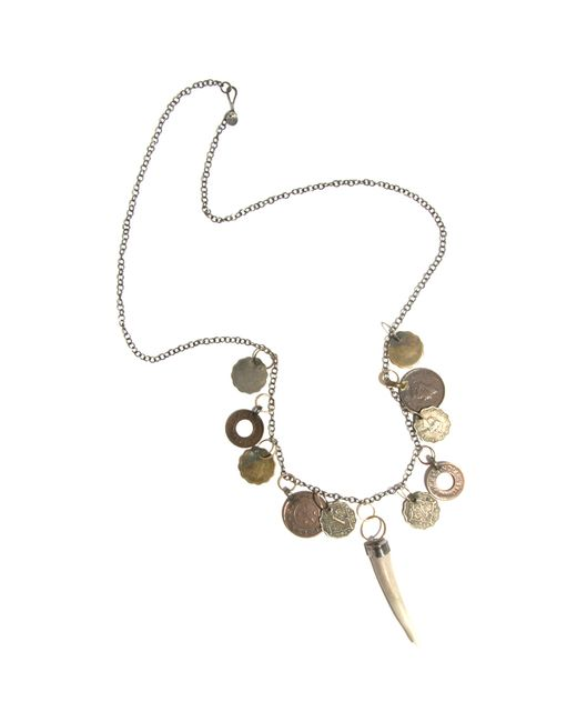 Melissa Joy Manning | Metallic Coin And Antler Necklace | Lyst