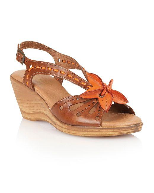Lotus | Brown Treviso Wedge Sandals | Lyst
