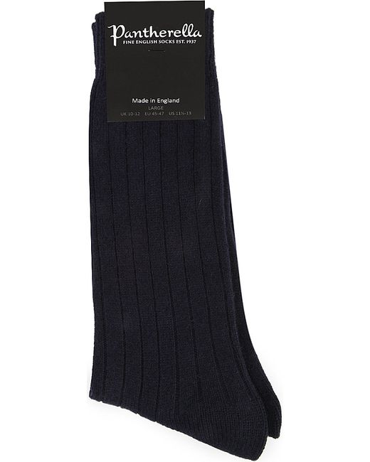Pantherella | Blue Ribbed Cashmere-blend Socks | Lyst