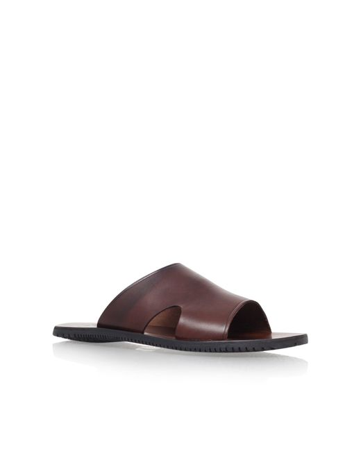 Kurt Geiger | Brown Karl Leather Sandals for Men | Lyst