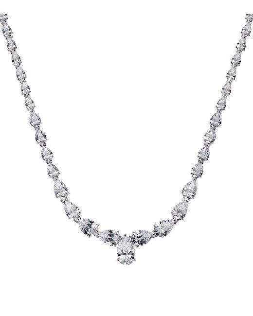 Carat* | Metallic Fancy Pear Cut Necklace | Lyst