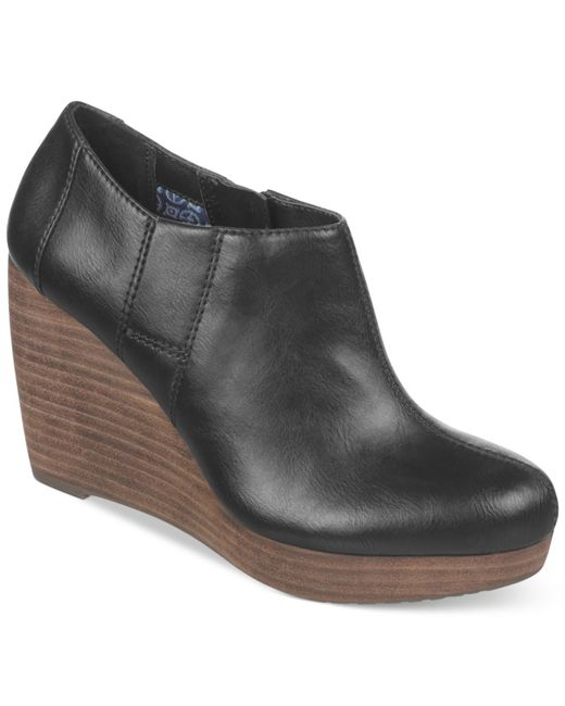 Dr. Scholls | Black Harlie Platform Wedge Shooties | Lyst