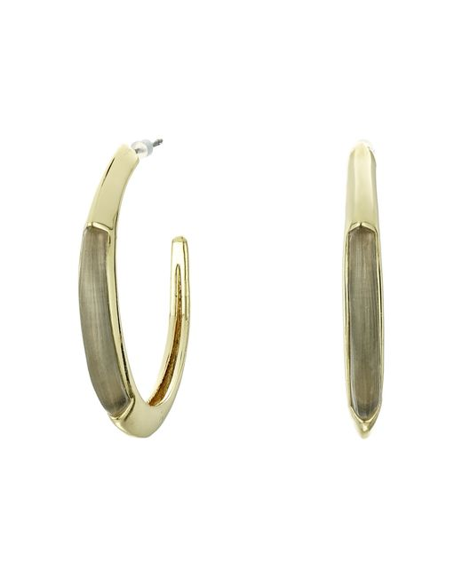 Alexis Bittar | Gray Crescent Hoop Earrings | Lyst