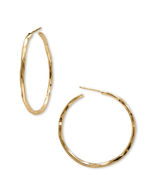 Argento Vivo | Metallic Medium Hammered Hoop Earrings | Lyst