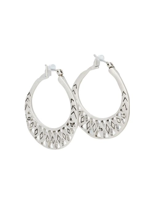 The Sak | Metallic Metal Works Openwork Metal Hoop Earring | Lyst