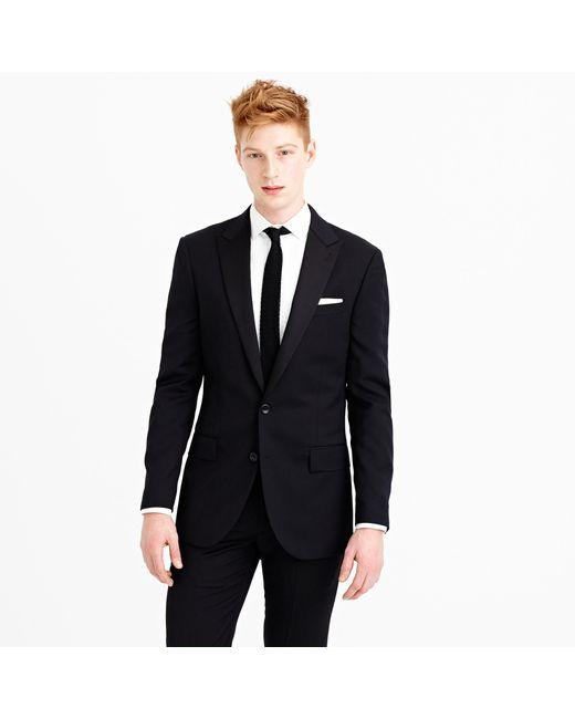 J.Crew | Black Ludlow Tuxedo Jacket In Italian Wool for Men | Lyst