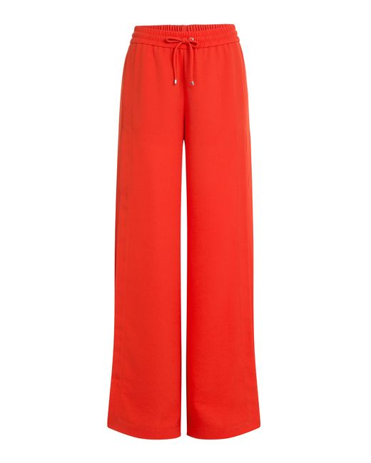 T By Alexander Wang   Wide Leg Crepe Pants - Red   Lyst