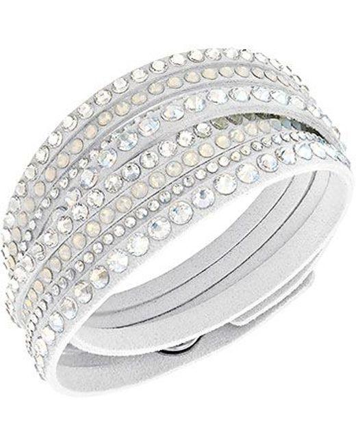 Swarovski | White Slake Deluxe Bracelet | Lyst