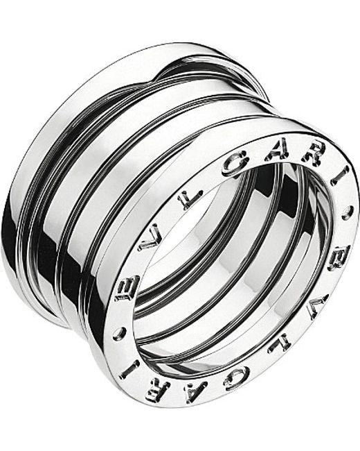 BVLGARI | Metallic B.zero1 Four-band Stainless Steel Ring - For Women | Lyst