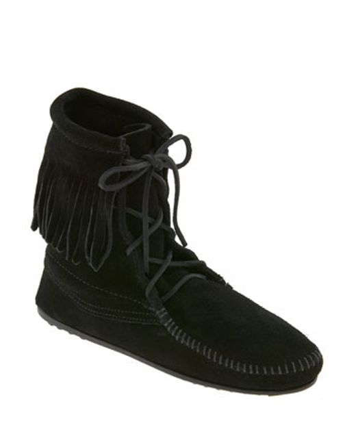 Minnetonka | Black 'tramper' Boot | Lyst