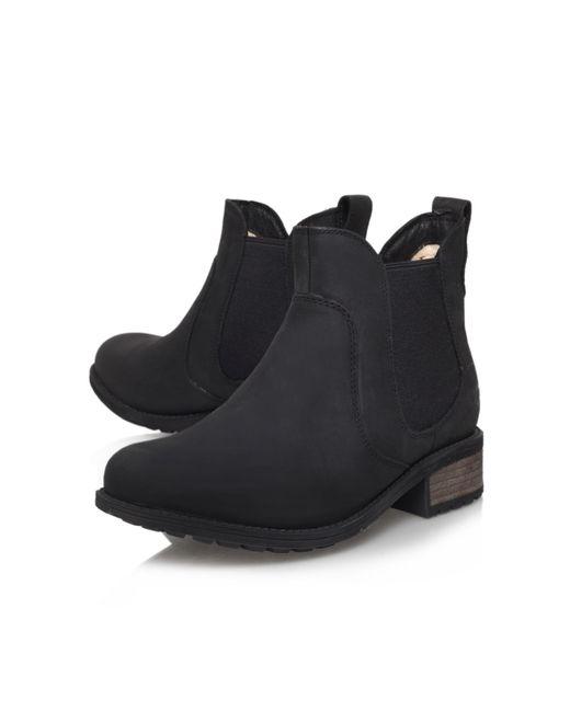 Ugg | Black Bonham Leather Ankle Boot | Lyst