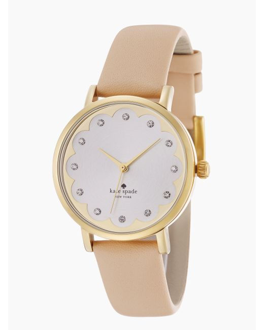 Kate Spade | Pink Scallop Metro Watch | Lyst