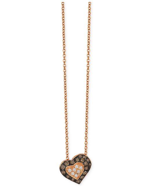 Le Vian | Metallic Chocolatier® Diamond Heart Pendant (1/3 Ct. T.w.) In 14k Rose Gold | Lyst