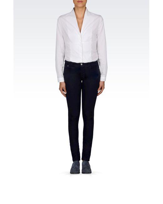 Armani Jeans | Blue J28 Skinny Dark Wash Jeans | Lyst