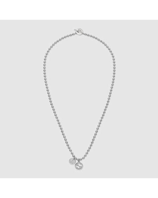 Gucci | Metallic Necklace In Silver With Boule Chain | Lyst