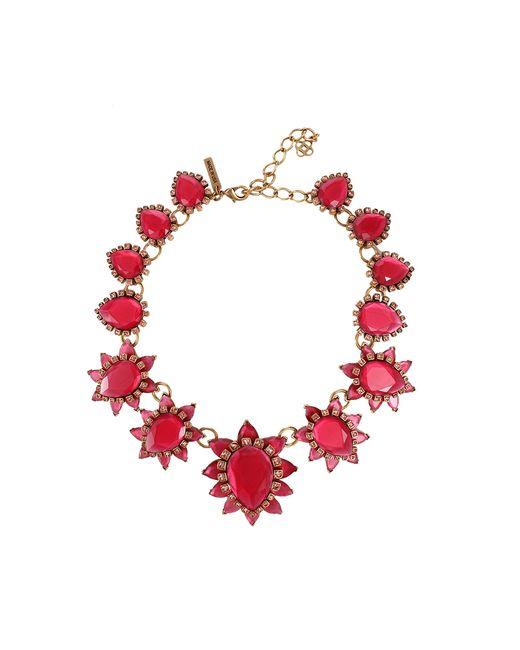 Oscar de la Renta | Green Bold Pear Shape Jewel Necklace | Lyst