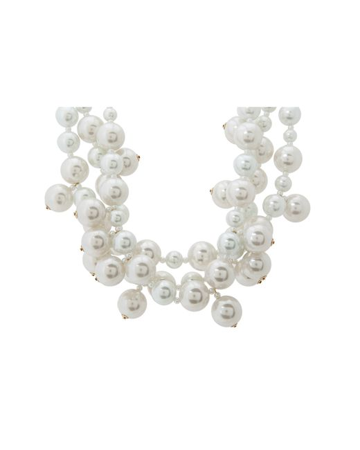 Kenneth Jay Lane | White 5079nwp Necklace | Lyst