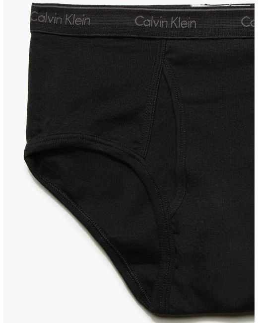 calvin klein classic brief 4 pack in black for men lyst. Black Bedroom Furniture Sets. Home Design Ideas