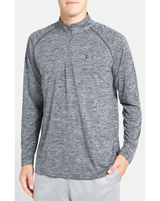 Under Armour | Gray 'tech' Quarter Zip Pullover for Men | Lyst