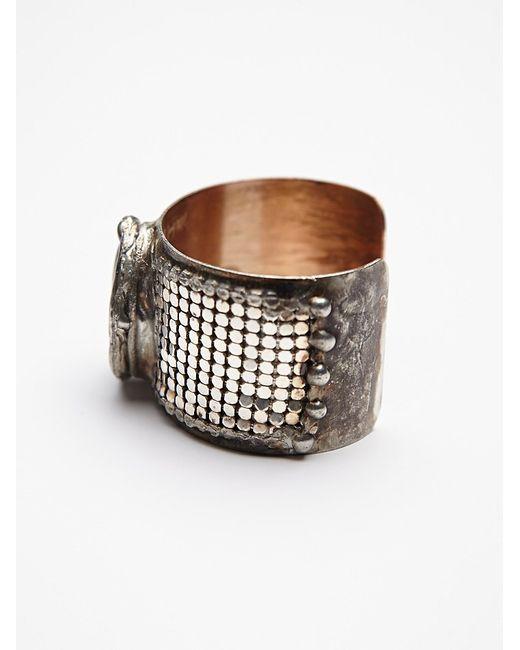 Free People | Metallic Labradorite Mesh Cuff | Lyst
