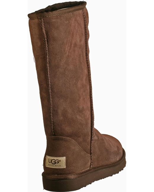 ugg classic boot chocolate brown suede in brown